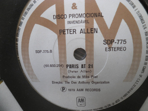 compacto peter allen paris at 21 promo