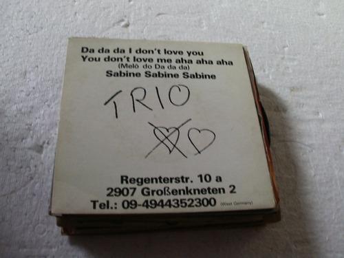 compacto trio,1982 da da da don't love you,sabine sabine
