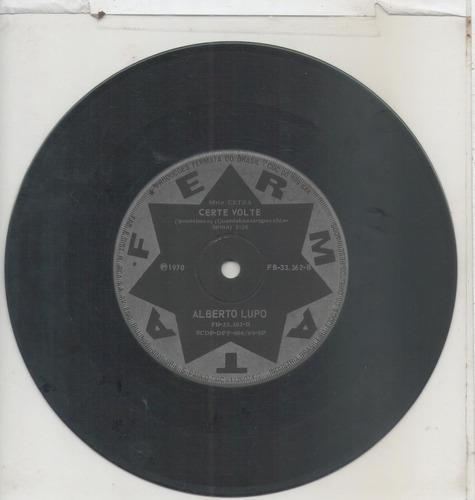 compacto vinil alberto lupo - io ti amo - 1970 - fermata