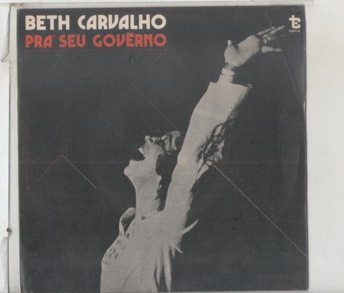 compacto vinil beth carvalho - pra seu governo - tapecar