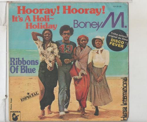 compacto vinil boney m. - hooray hooray - ribbons of blue -