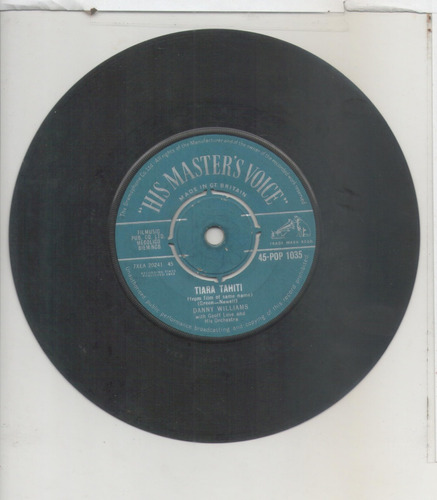 compacto vinil danny williams - tiara tahiti - his master´s