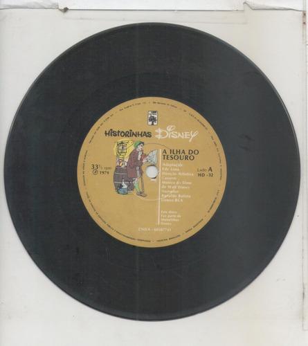 compacto vinil historinhas disney - a ilha do tesouro - 1979