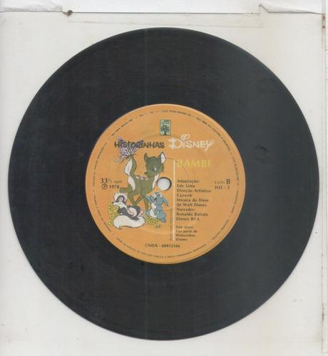 compacto vinil historinhas disney - bambi - 1978 - abril cul