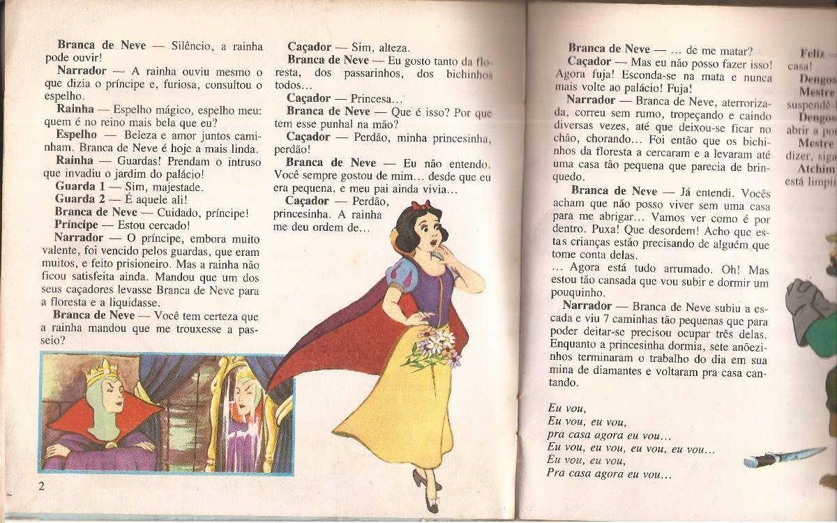 Compacto Vinil Historinhas Disney Branca De Neve Brinque R
