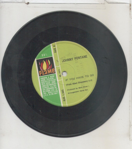 compacto vinil johnny fontane - there are many ways to heave
