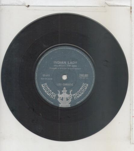 compacto vinil lou christie - indian lady - 1971 - buddah re