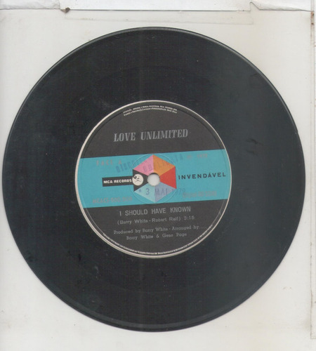 compacto vinil love unlimited - i should have known - 1972 -