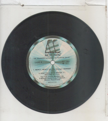 compacto vinil marvin gaye - os grandes sucessos - 1977 - mo