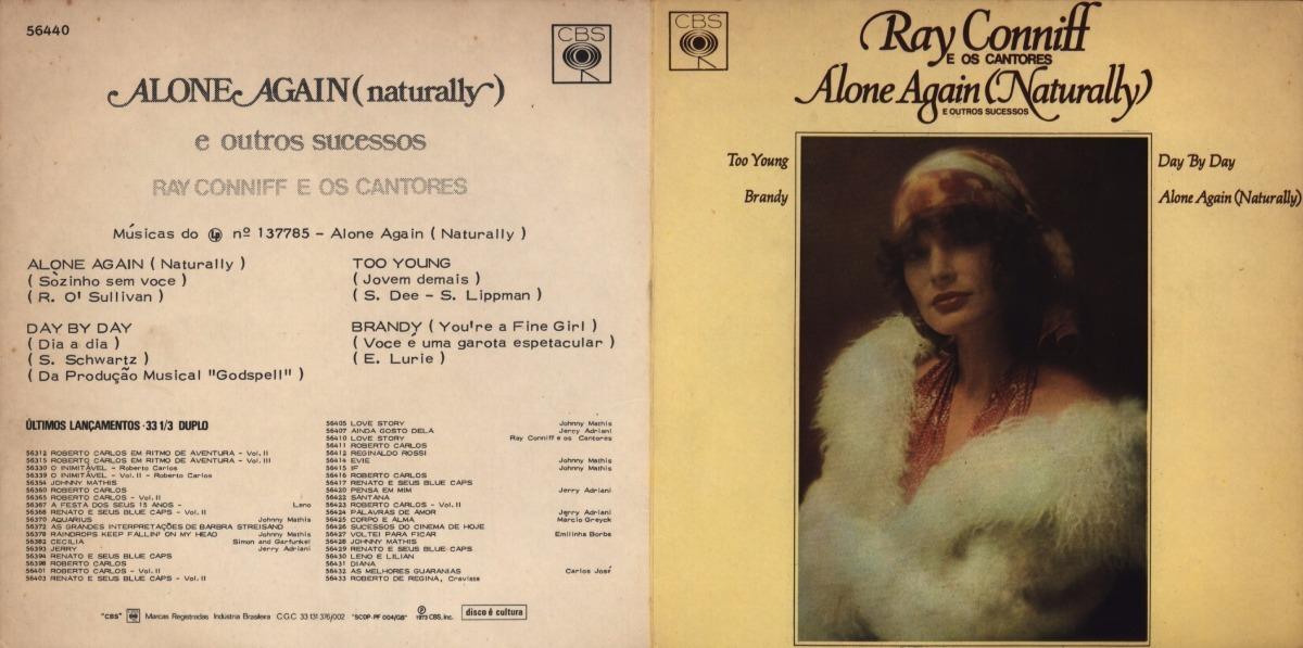Compacto Vinil - Ray Coniff - Alone Again - Naturally - Z