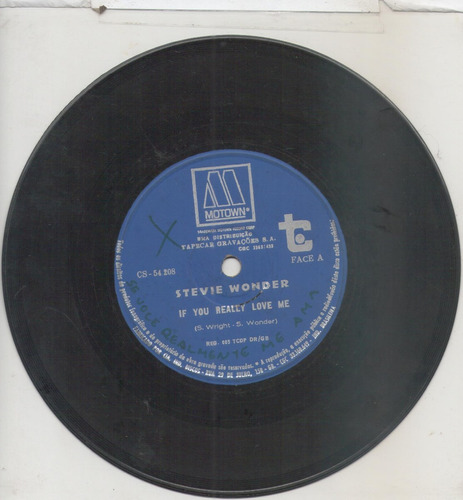 compacto vinil stevie wonder - if you really love me - motow