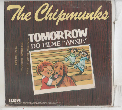 compacto vinil the chipmunks - e.t. & me - 1983 - rca