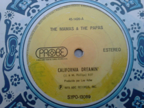 compacto vinil the mamas & the papas - california dreamin