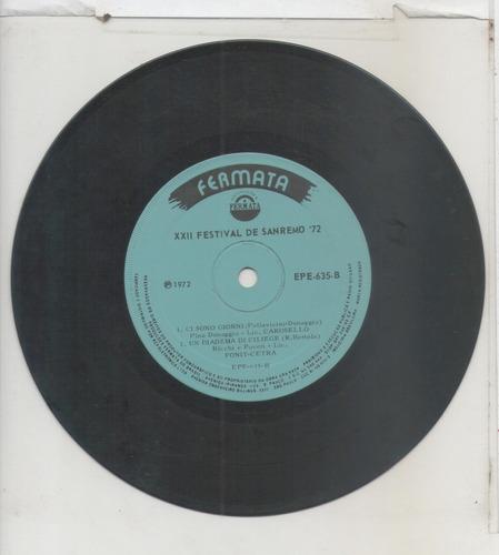 compacto vinil xxii festival de sanremo 72 - 1972 - fermata