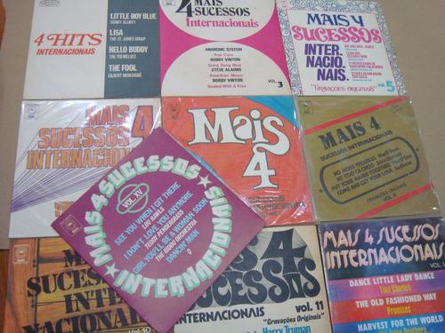 compactos, mais 4 sucessos, hits internacionais, lote com 10