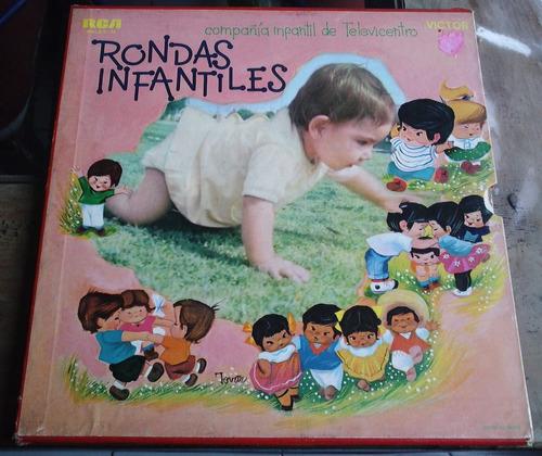 compañia infantil de televicentro caja c/ 3 lps ed 1971 au1