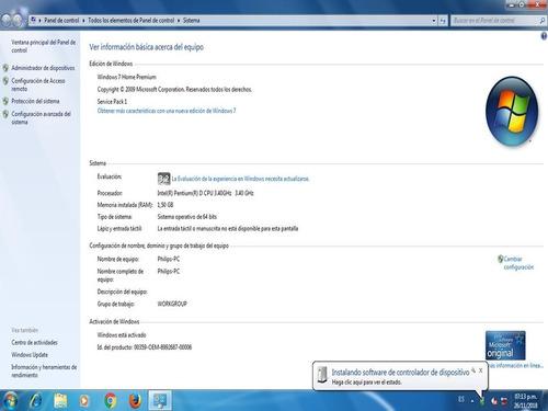 compaq pentium dual core 3.40 ghz 1.5 gb d.d. 80 gb