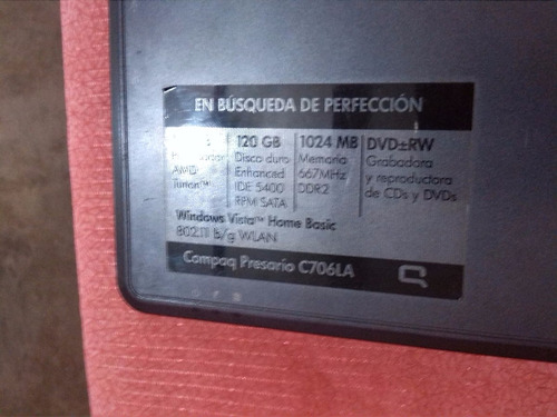 compaq presario f700 repuestos dtb