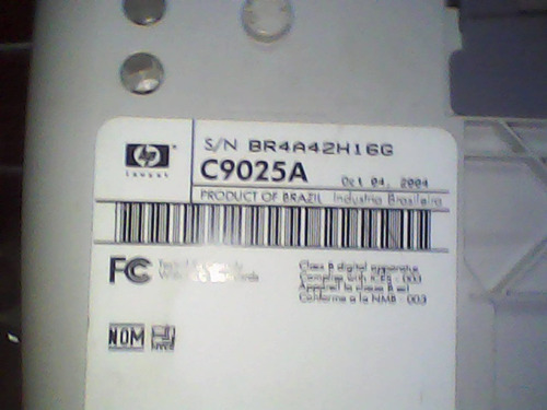 compartimento mecanico  completa hp original c 9025a/-