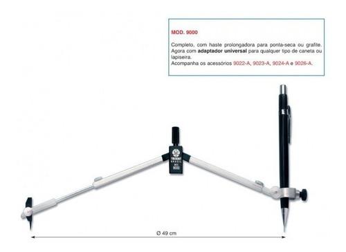compasso técnico mod. 9000 c/acessórios - trident