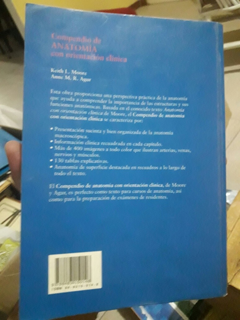 Compendio De Anatomia Con Orientacion Clinica. Moore - $ 890,00 en ...