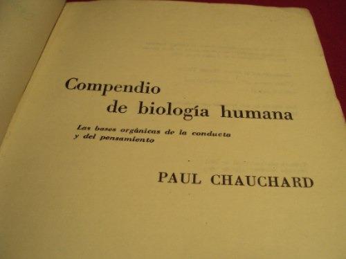 compendio de biologia humana, paul chauchard
