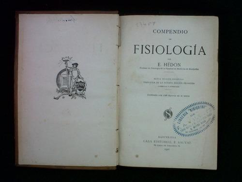 compendio de fisiologia e. hedon