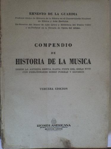 compendio de historia de la música
