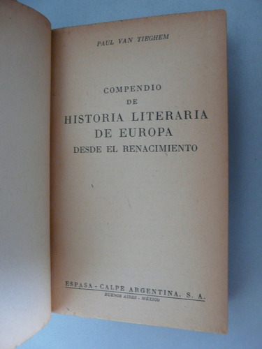 compendio de historia literaria de europa