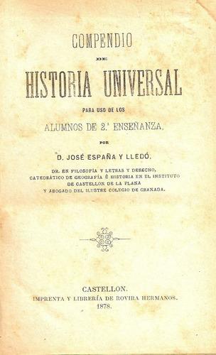 compendio de historia universal - d.jose españa y lledo