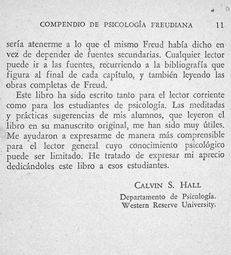 compendio de psicologia freudiana / calvin s. hall