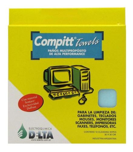 compitt towels 10 paños limpieza multipropósito sontara