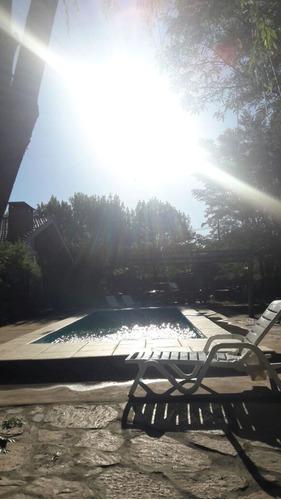 complejo de cabañas con piscina en villa cura brochero
