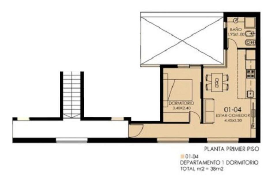complejo de departamentos de pasillo en pb y pa