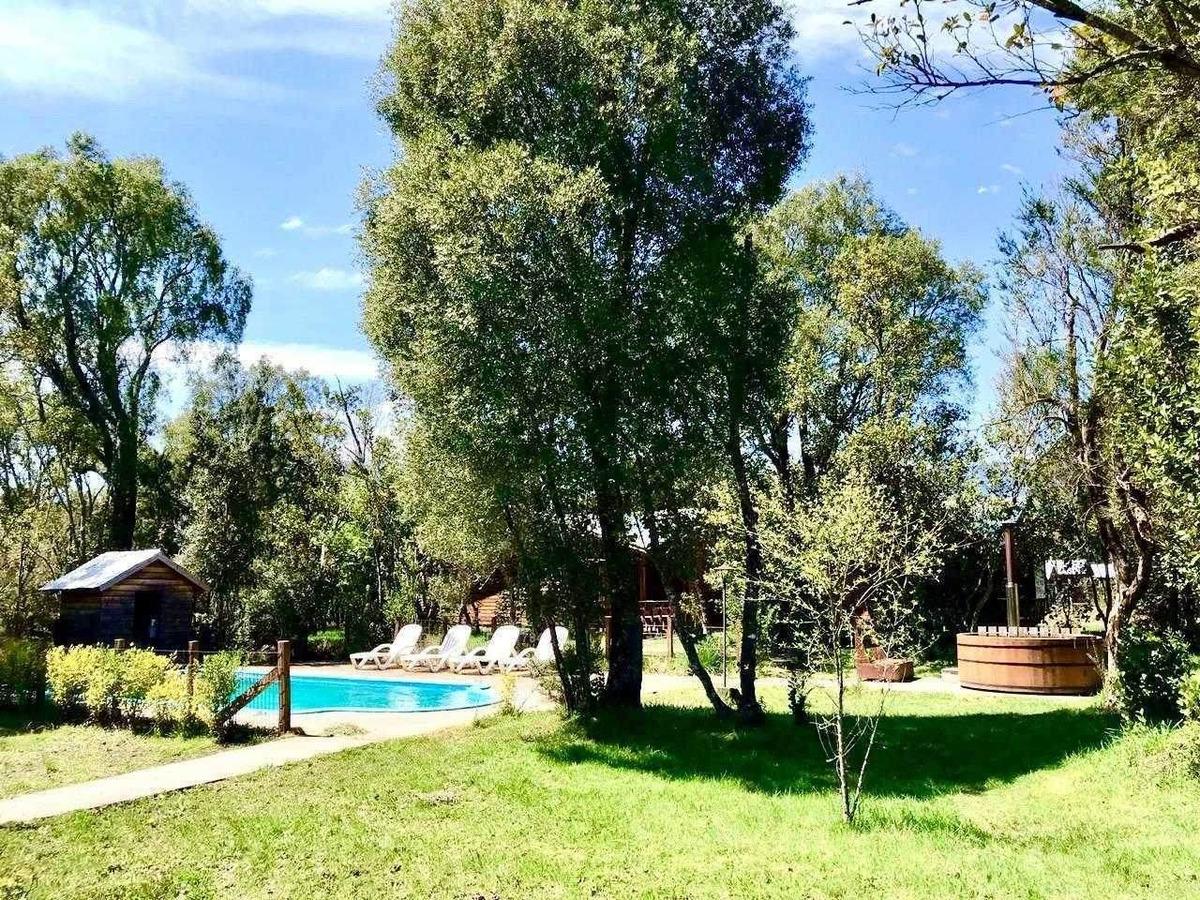 complejo turistico 6 cabañas estílo rústico en parcela 5mil m2 piscina, tinaja!! gran cartera de clientes!