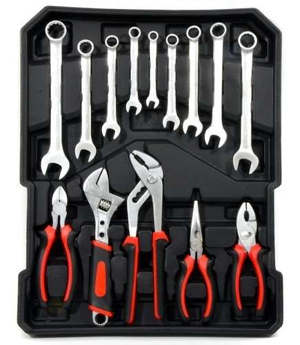 completa maleta de ferramentas c/ 399 peças chrome vanadium
