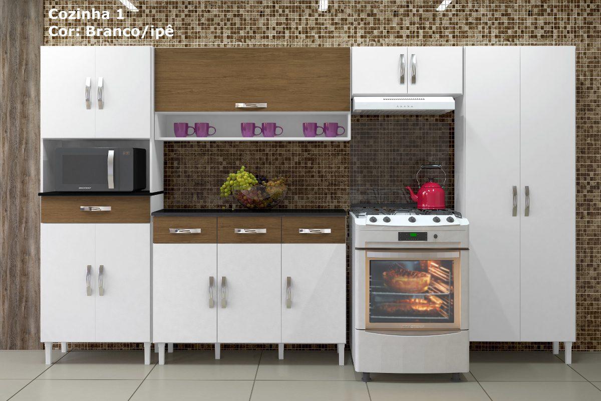 Cozinha Completa Modulada 1 Mdp Mdf 3 22 M Arte M Veis R