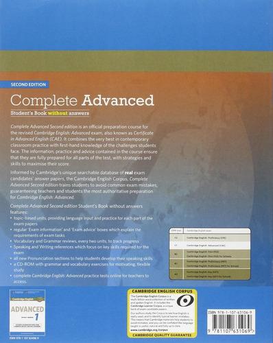 complete advanced 2nd ed - student s book sin rta  cambridge