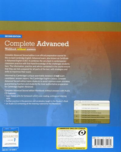 complete advanced 2nd ed - workbook sin rta - cambridge