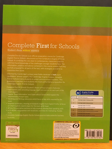 complete first for schools - student s book no key cambridge