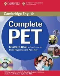 complete pet student's book without answer+cdrom cambridge