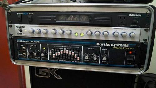 completo equipamiento de bajo. hartke+gallien krueger+aphex.