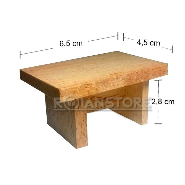 Completo set muebles de living en madera para casa mu ecas for Muebles de juguete en madera