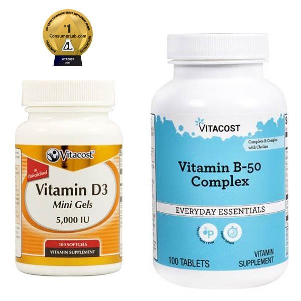 8e6d3bd4d Complexo B-50 100 Caps + Vitamina D3 5000 Iu 100 Gels - R  94