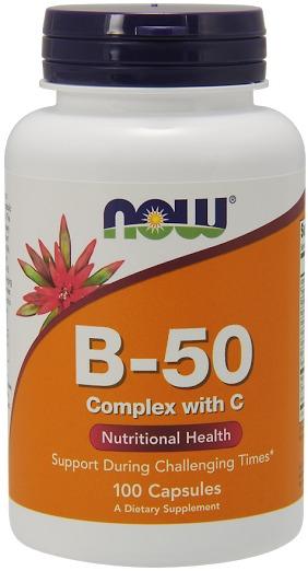 ae848cdc0 Complexo B-50 Com Vitamina C Now Foods 100 Caps. - R  82