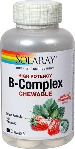 4773654ce Complexo B + Vitamina C Solaray 50 Caps Mastigaveis - Eua - R  105 ...
