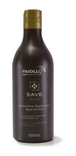 complexo de queratina para cabelo save hair  300ml paiolla