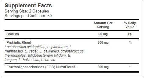 complexo probiotico 100caps 20bilhoes cfu