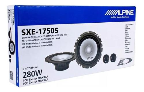 componentes alpine sxe-1750s de 6 1/2 - audio secrets