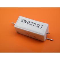 1 Pack 10 Resistencia De Loza 5watts 0.22 Ohms 0,22ohms